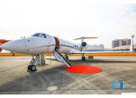 HK Bellawings jet showcased Gulfstream G450 business aircraft