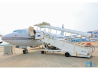 HK Bellawings jet showcased its ultra-large Boeing business aircraft