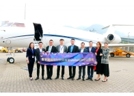 Bellawings held a celebration ceremony at Hong Kong Airport today.