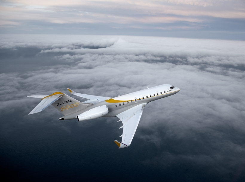 Global 5000 in flight 6